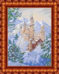 Канва для бисера КБП-3039 Зимний замок