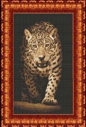 Канва для бисера КБЖ-2005 Леопард