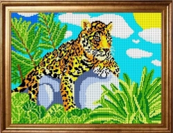 Канва для бисера КБЖ-3002 Леопард