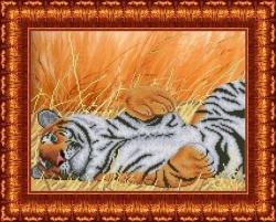 Канва для бисера КБЖ-3008 Тигр