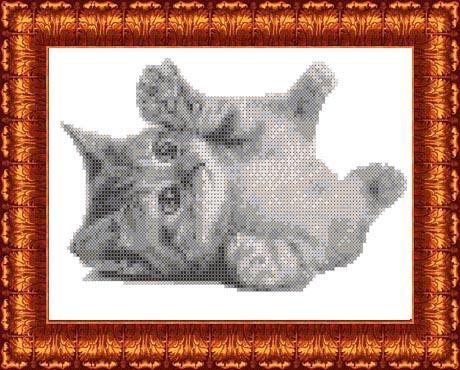 Канва для бисера КБЖ-4021 Котёнок