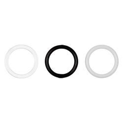 Кольцо, пластик 12 мм 1/500 шт