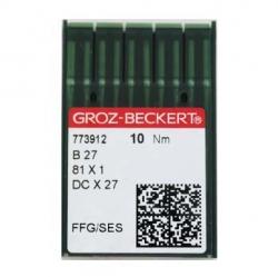 Иглы GROZE-BECKERT B27 для промышленных швейных машин (оверлок)