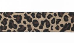 "Резинка полиэстер ""Леопард"" коричн. 4 см 1/23 ярд"