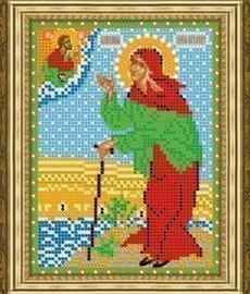 """Рисунок на ткани для вышивания бисером 390М """"Св. Ксения Петербургская"""""""