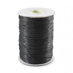 Шнур вощёный 1,5 мм чёрный Корея