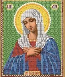 """Рисунок на ткани для вышивания бисером Бис 334 """"Прп.Богородица Умиление """""""