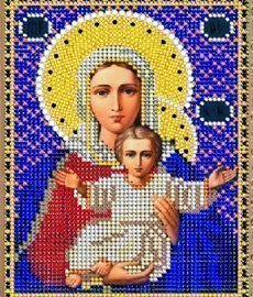 """Рисунок на ткани для вышивания бисером 393М """"Прс. Богородица Азь Есмь"""""""