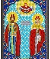 Pисунок на ткани для вышивания бисером 452М «Св.Петр и Феврония»