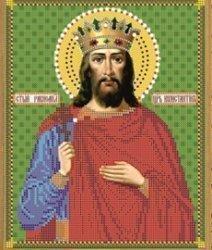 """Рисунок на ткани для вышивания бисером 773М """"Святой Константин"""""""