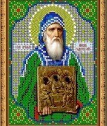 Pисунок на ткани для вышивания бисером 827М «Св.Никон Радонежский»
