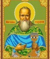 Рисунок на ткани для вышивания бисером Бис 834 «Св.Иоанн Кронштадтский»