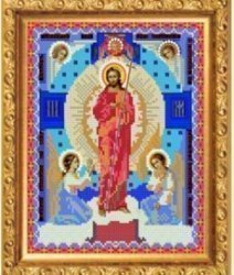 """Рисунок на ткани для вышивания бисером Бис 338 """"Воскресение Христово"""""""