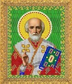 """Рисунок на ткани для вышивания бисером Бис 361 """"Святой Николай Угодник"""""""