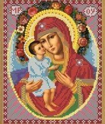 """Рисунок на ткани для вышивания бисером Бис 375 """"Прсв. Богородица Жировицкая"""""""