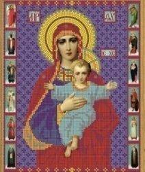 """Рисунок на ткани для вышивания бисером Бис 393 """"Прсв. Богородица Азь Есмь"""""""