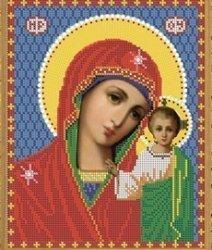 """Рисунок на ткани для вышивания бисером Бис 410 """"Прсв. Богородица Казанская"""""""