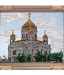 """Рисунок на ткани для вышивания бисером К-174 """"Храм Христа Спасителя"""""""