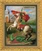 """Канва с нанесённым рисунком для вышивания бисером 313Б """"Св.Георгий Победоносец"""""""