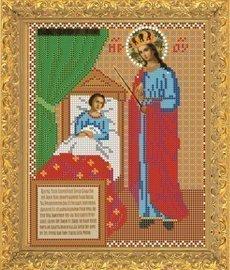 """Рисунок на ткани для вышивания бисером 358М """"Образ Прсв. Богородицы Целительница"""""""
