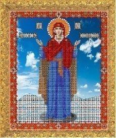 """Канва с нанесённым рисунком для вышивания бисером 360Б """"Прсв. Богородица Нерушимая Стена"""""""