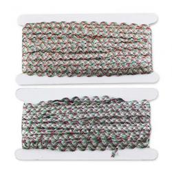 Вьюнок-люрекс цветной 5 мм 1/25 м
