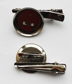 Заготовка-булавка+зажим DY-01 2,5 см