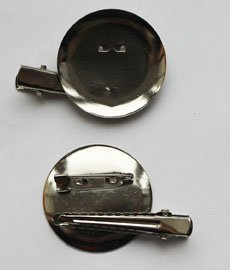 Заготовка-булавка+зажим DY-01 3,5 см