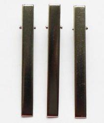 Зажим металлический DY-38 8 см 1/100 шт цв.-никель