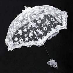 Кружевной свадебный зонт HS-10